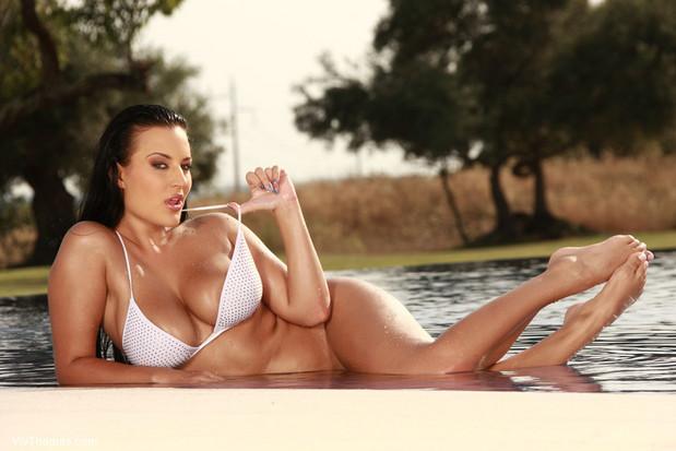 Stunningly beautiful brunette with big tits; Big Tits Brunette