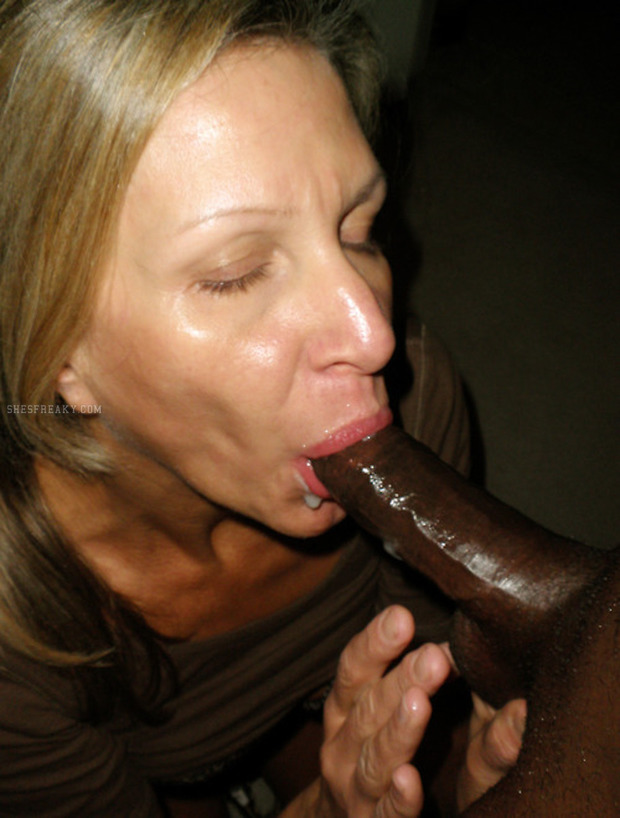 Mature interracial cum