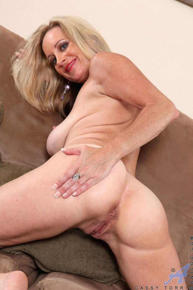 Mature blonde toys with herself; Blonde Mature Toys