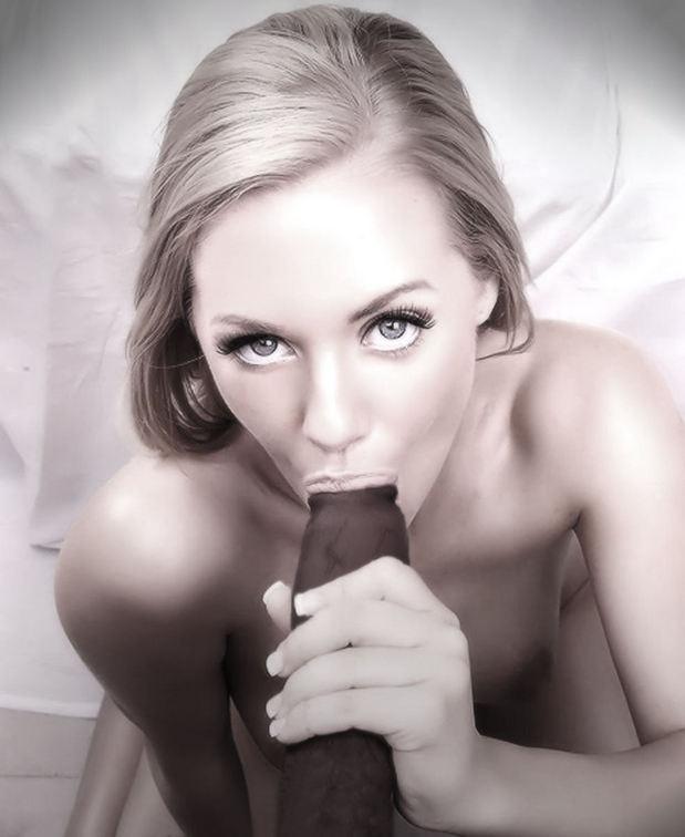 Black perfect cock blonde