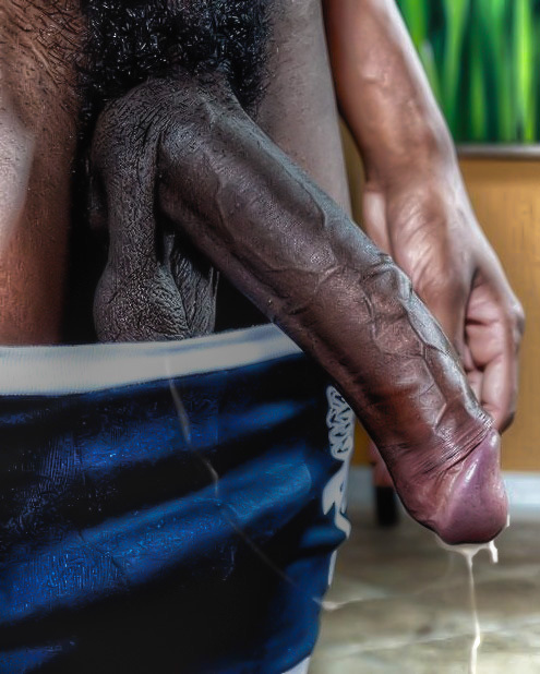 Black cock cum video