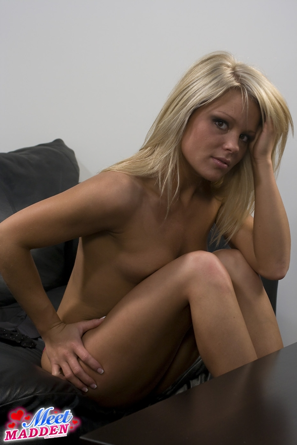 Meet Madden in Black Dress; Amateur Babe Blonde Hot SFW