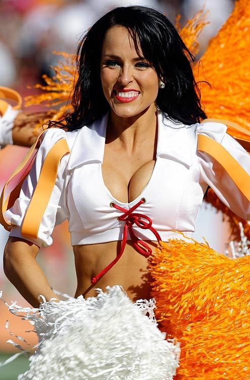 ...; Athletic Babe Big Tits Brunette Cheerleader Cleavage Non Nude Uniform