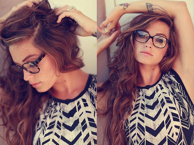 ...; Babe Brunette Glasses Non Nude