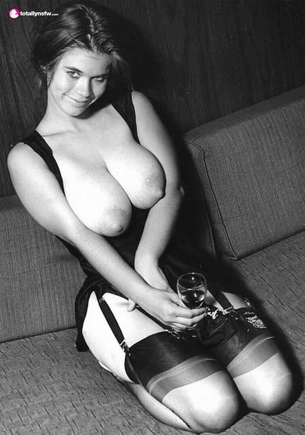 In nude women vintage lingerie retro