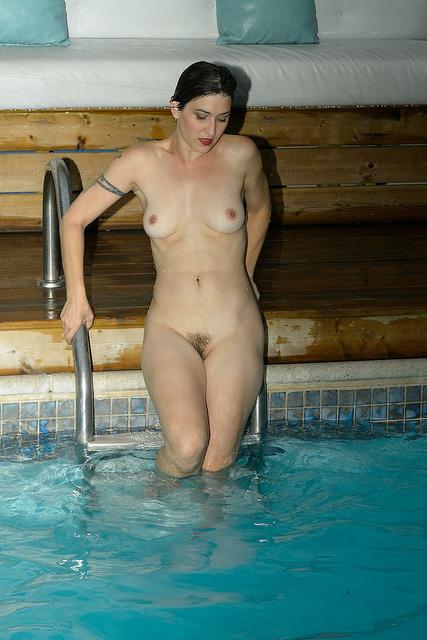 ...; Brunette Hairy Pool