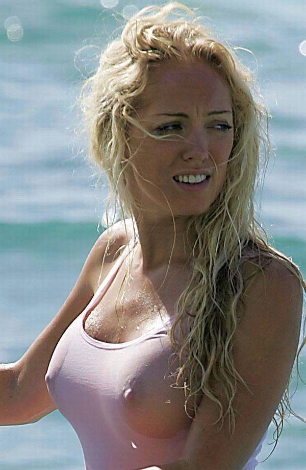 Aisleyne Horgan-Wallace wet t-shirt; Celebrity