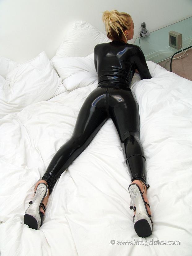 ...; Ass Blonde Latex Lingerie Non Nude Uniform