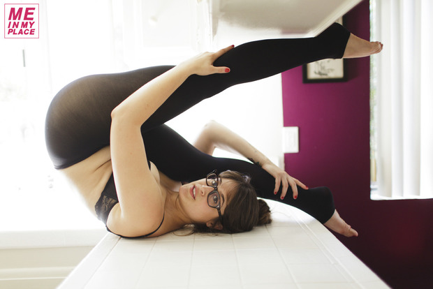 ...; Athletic Babe Glasses Non Nude Yogapants