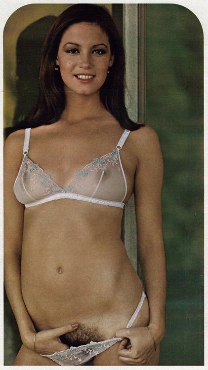 Classic Porn! - Susanne Saxon (1976); Babe Brunette Vintage Lingerie Unshaven