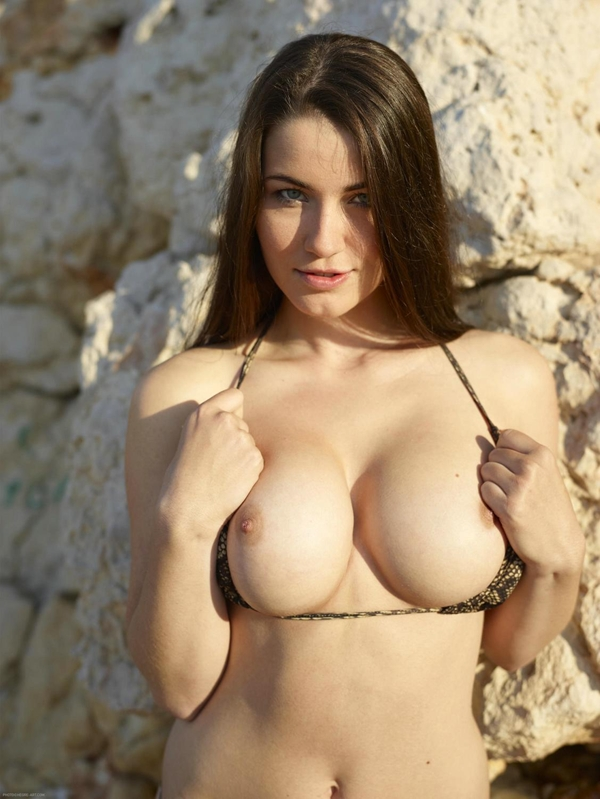 Yara; Big Tits Brunette Outdoor